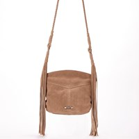 Dolce Vita Collection Handbags Cali Suede Cross Body With Fringefawn