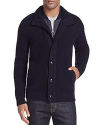 Barbour Helm Double Layered Outerwear Cardigan Navy
