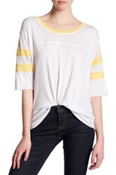 Abound Elbow Length Sleeve Baseball Tee White