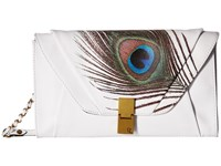 Elliott Lucca Cordoba Clutch White Peacock Clutch Handbags Multi