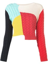 Alice Olivia Lebell Colour Block Jumper Multicolour