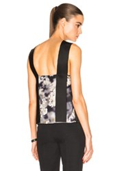 Calvin Klein Collection Galik Tank Top In Black Floral