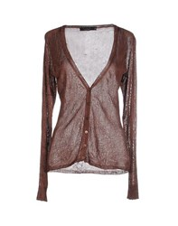 Twin Set Simona Barbieri Knitwear Cardigans Women Dark Brown