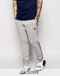 Ellesse Skinny Joggers With Taping Grey