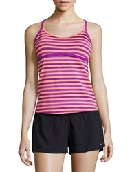 Nike Blurred Lanes Racerback Sport Tankini Top Purple