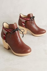 Anthropologie Farylrobin Rylie Clog Booties Brown 5 Wedges