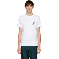Paul Smith Ps By White Dino Print T Shirt