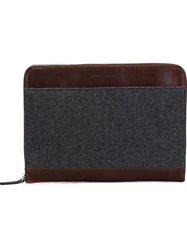 Brunello Cucinelli Zipped Up Document Holder Brown