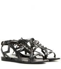 Stella Mccartney Lace Up Sandals Black