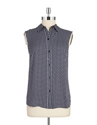 Jones New York Dotted Blouse