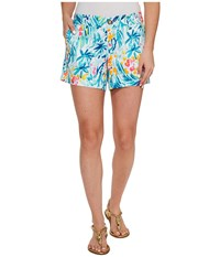 Lilly Pulitzer Callahan Shorts Serene Blue Tippy Top Women's Shorts Multi