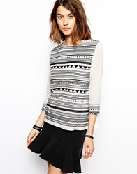 Baandsh Bocage Top In Stripe Ecru