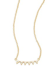 Argentovivo Inverted Crown Sterling Silver Pendant Necklace Gold