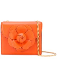 Oscar De La Renta Mini Tro Crossbody Orange