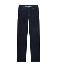 Paul And Shark Straight Leg Cashmere Stretch Jeans Dark Blue