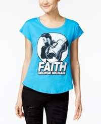 Ntd Juniors' George Michael Faith Graphic T Shirt Turquoise