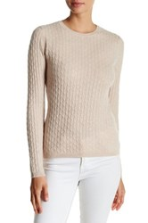 In Cashmere Baby Cable Pullover Brown