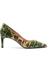 Dkny Eviey Snake Effect Leather Pumps Multi