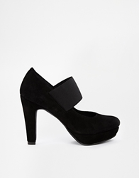 Gardenia Leather Strap Heeled Shoes Camurcablack