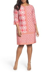 Taylor Dresses Plus Size Women's Print Shift Dress