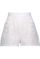 Just Cavalli Broderie Anglaise Cotton Shorts White