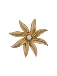 Susan Caplan Vintage 1970'S Sarah Coventry Flower Brooch Gold