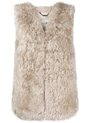 Manzoni 24 Concealed Fastening Gilet Nude And Neutrals