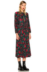 Vetements Polka Dot Flower Dress In Black Floral Geometric Green Red Black Floral Geometric Green Red