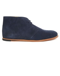 Opening Ceremony Navy Blue Suede Desert Boots