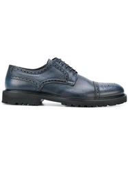 Baldinini Textured Brogues Calf Leather Leather Rubber Blue