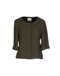 Pinko Tag Blazers Military Green