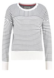 Abercrombie And Fitch Dog Jumper White Navy Stripe