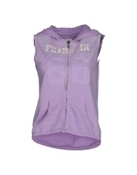 Franklin And Marshall Topwear Sweatshirts Women Lilac