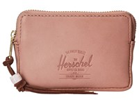Herschel Oxford Pouch Leather Ash Rose Nubuck Leather Wallet Handbags Pink