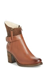 Bos. And Co. Women's 'Bestie' Waterproof Zip Bootie Cognac Brown Every Leather