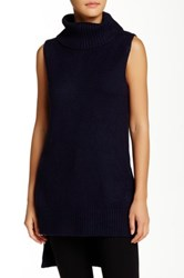 Romeo And Juliet Couture Sleeveless Turtleneck Sweater Blue