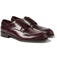 Brioni Split Toe Polished Leather Derby Shoes