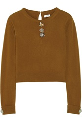 Issa Embellished Wool And Cashmere Blend Sweater