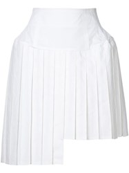 Julien David Pleated Mini Skirt White