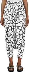 Ktz Black And White Painted Geometric Harem Pants
