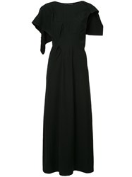 Yohji Yamamoto Vintage Over The Shoulder Flap Dress Black
