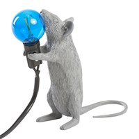 Seletti Grey Mouse Lamp Standing