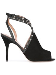 Red Valentino Stud Stiletto Sandals Black