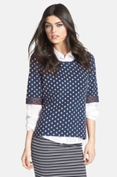Ace Delivery Textured Polka Dot Sweatshirt Blue