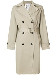 Closed Double Breasted Trench Coat Nude And Neutrals