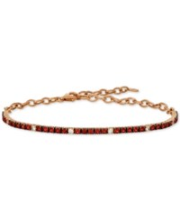 Le Vian Ruby 1 1 3 Ct. T.W. And White Sapphire 1 5 Ct. T.W. Statement Bracelet In 14K Rose Gold