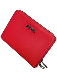 Folli Follie Saffiano Zip Wallet Red