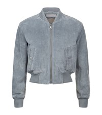 See By Chloe Suede Bomber Jacket Female Grey