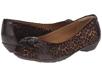 Softspots Posie Copper Metallic Leopard Suede Women's Slip On Shoes Animal Print