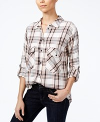 Sanctuary Roll Tab Plaid Shirt A Macy's Exclusive Style Lorde Plaid